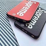 Supreme シュプリーム iPhone6/6s おしゃれ携帯カバー iPhone6plus/6splus ケース 兼用ケース 英字 スマホカバー スマホケース iPhoneケース スマイルマーク FASHION クリアケース 耐衝撃 超軽量 高品質 (iPhone6/6s, ブラック) [並行輸入品]