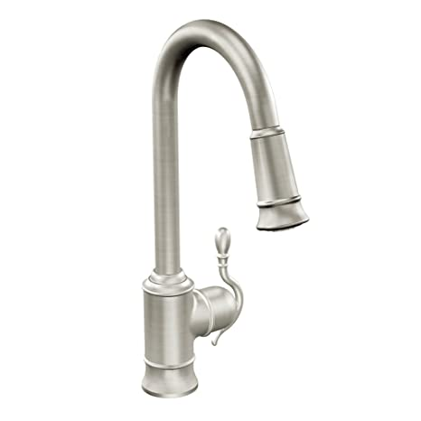 Woodmere One-Handle High Arc Pulldown Kitchen Faucet Featuring Reflex, Spot Resist Stainless