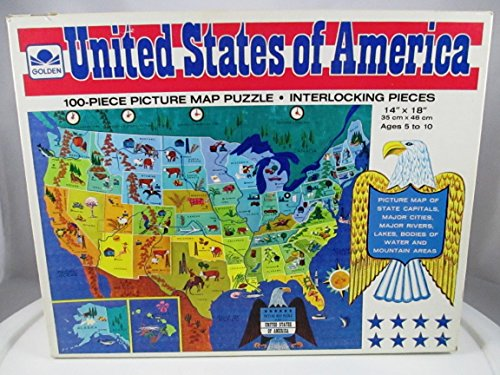 Golden 100 Piece Puzzle - United States of America - 1