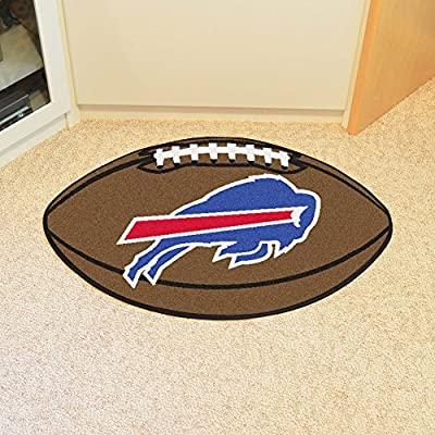 Buffalo Bills Football Rug - NFL Shaped Accent Floor Mat