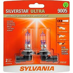 SYLVANIA 9005 SilverStar Ultra High Performance Halogen Headlight Bulb, (Pack of 2)