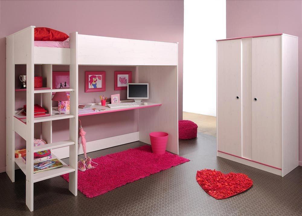 Jumbo-Möbel Kinderzimmer-Set SMOOZY 4 in Weiß & Pink oder Blau, Komplettset jetzt kaufen