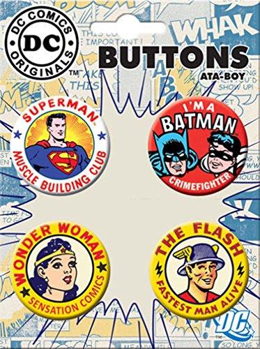 Ata-Boy DC Comics Originals 75th Anniversary 4 Button Set