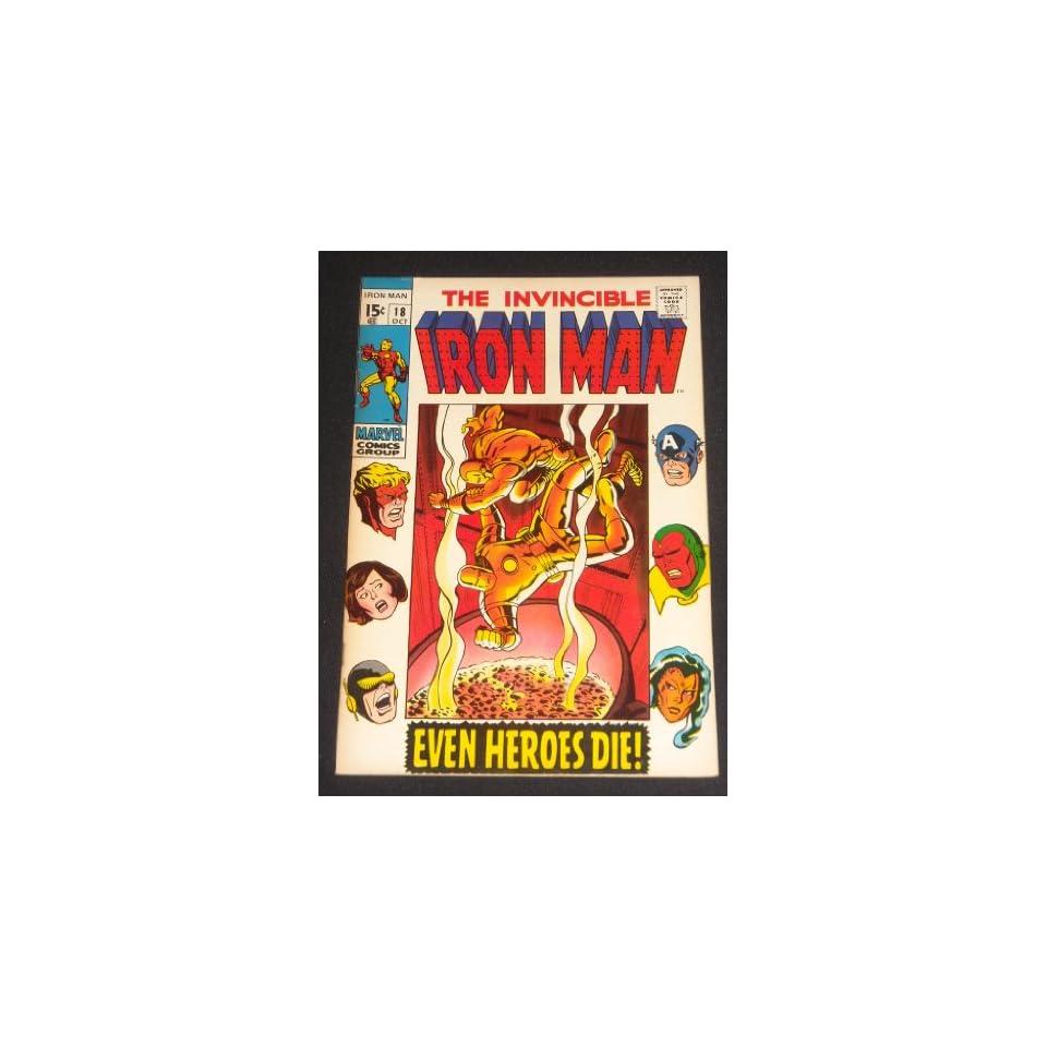 INVINCIBLE IRON MAN #18 SILVER AGE MARVEL COMIC BOOK AVENGERS APP.