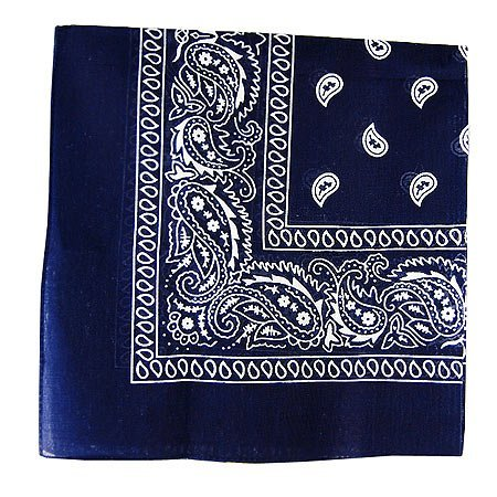 Paisley Cotton Bandana Dark Blue