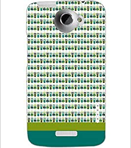 PrintDhaba Owl pattern D-1863 Back Case Cover for HTC ONE X (Multi-Coloured)