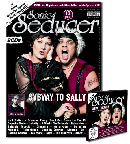 Sonic Seducer 04-10 Limited Edition mit Subway To Sally-Sticker; 2 CDs im Digisleeve + 37 Seiten Mittelalterspecial; Bands: Subway To Sally, De/Vision, Depeche Mode, VNV Nation u. v. m.