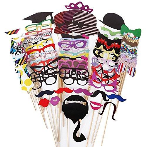 76pcs-photo-booth-props-fai-da-te-colorati-divertente-occhiali-baffi-labbra-rosse-cappelli-nozze-mat