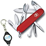 Victorinox Super Tinker Swiss Army Knife 14 Functions Bundle with a Lumintrail Keychain Light (Color: Red)