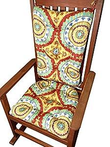 Amazon Com Porch Rocker Cushion Set Inessa Suzani Teal