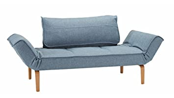 Mirage Lacquered Oak Daybed in Blue