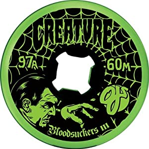 Buy OJ Wheels Creature Bloodsuckers III 60mm 97A Grn Black Skateboard Wheels (Set of 4) by Oj Wheels