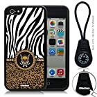 Oksobuy® -The New Apple Iphone 5c Black and White Zebra and Skeletons Interlocking Grain Fashion Design Soft Silicone Case Cover Skin Protection for the Iphone 5c (Black)-0320