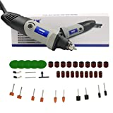Rotary Tool Kit Multifunctional Power Tool Set,10.6 Inch 6 Step Variable Speed Electric Drill Grinder for Crafting Projects and DIY Creations (gray) (Color: gray)