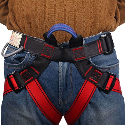 Climbing Harness,Half Body Guide Harness,Protect Leg Waist Wider Safe Seat Belts for Mountaineering Outward Band Fire Rescue Working on the Higher Level Caving Rock Climbing Rappelling Equip (Basic Safety Harness compare prices)