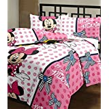 Renown Mickey Mouse Cartoon Print Reversible Poly Cotton Single Bed AC Blanket / Dohar