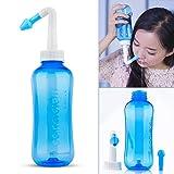 Sinus Rinse 500ml Nasal Irrigation - HailiCare Nose Cleaner for Nose Wash - Cleanser without Nose Wash Salt (Color: Blue)
