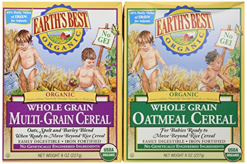 Earth's Best Organic Whole Grain Oatmeal & Multi-grain Cereal (One 8 Oz Box of Each) - 1