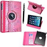 """FOR AMAZON KINDLE FIRE HD 7"""" VARIOUS PU LEATHER WITH SLEEP/WAKE STANDBY MAGNETIC CASE COVER POUCH + STYLUS BY GSDSTYLEYOURMOBILE (Pink Diamond Flip)"""