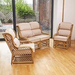 Home & Garden Direct Conservatory Replacement Cane Low Back Cushion Choice of Colours from Home & Garden Direct