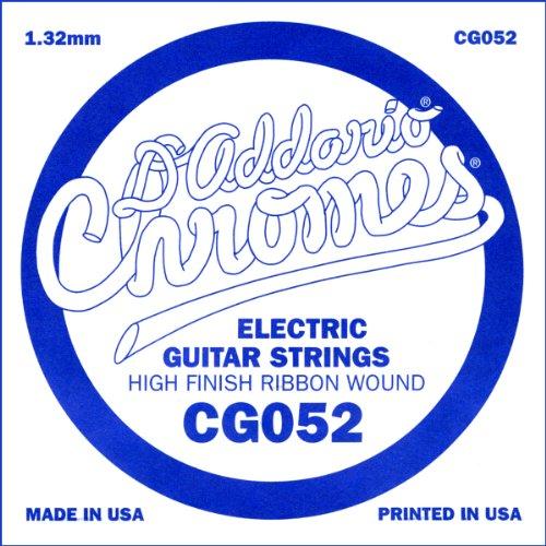 D'Addario Cg052 Flat Wound Electric Guitar Single String, .052