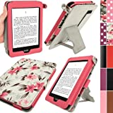 IGadgitz 'Bi-View' Textured Finish PU Leather Case Cover for Amazon Kindle Paperwhite - Pink/Cream