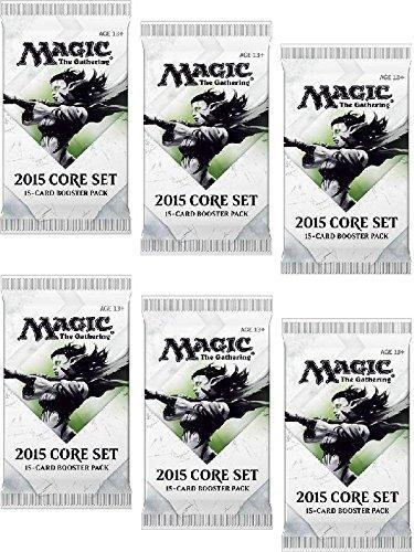 6-Six-Packs-of-Magic-the-Gathering-MTG-2015-Core-Set-M15-Booster-Pack-Lot