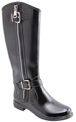 Zlyc Women's Knee High Rain Boots Galoshes 26