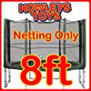 8ft Replacement Netting For Trampoline Enclosure