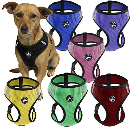 OxGord Pet Control Harness for Dog & Cat Easy Soft Walking Collar, Large, Pink (Leash Harness compare prices)