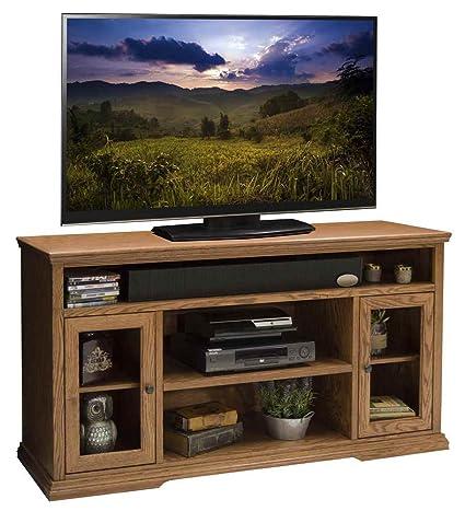 61.75 in. Tall TV Cabinet in Golden Oak Finish