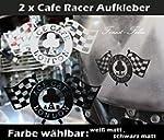 ACE CAFE Aufkleber Wei� Matt Retro Cu...