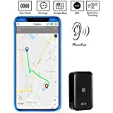 GPS Tracker Mini Portable GPS Location Tracker Positioning SOS 2G GMS Finder for Elder Children Car Dogs Cats Pets (Color: black)