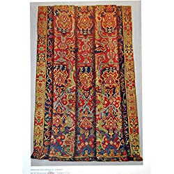 Old Original Antique Victorian Print Hispano-Mauresque Carpet