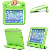eTopxizu Shockproof Case Light Weight Kids Case for iPad 4, iPad 3 & iPad 2 2nd 3rd 4th Generation,iPad 2 3 4 Shockproof Case Super Protection Cover Handle Stand Case for Children - Green (Color: Green)
