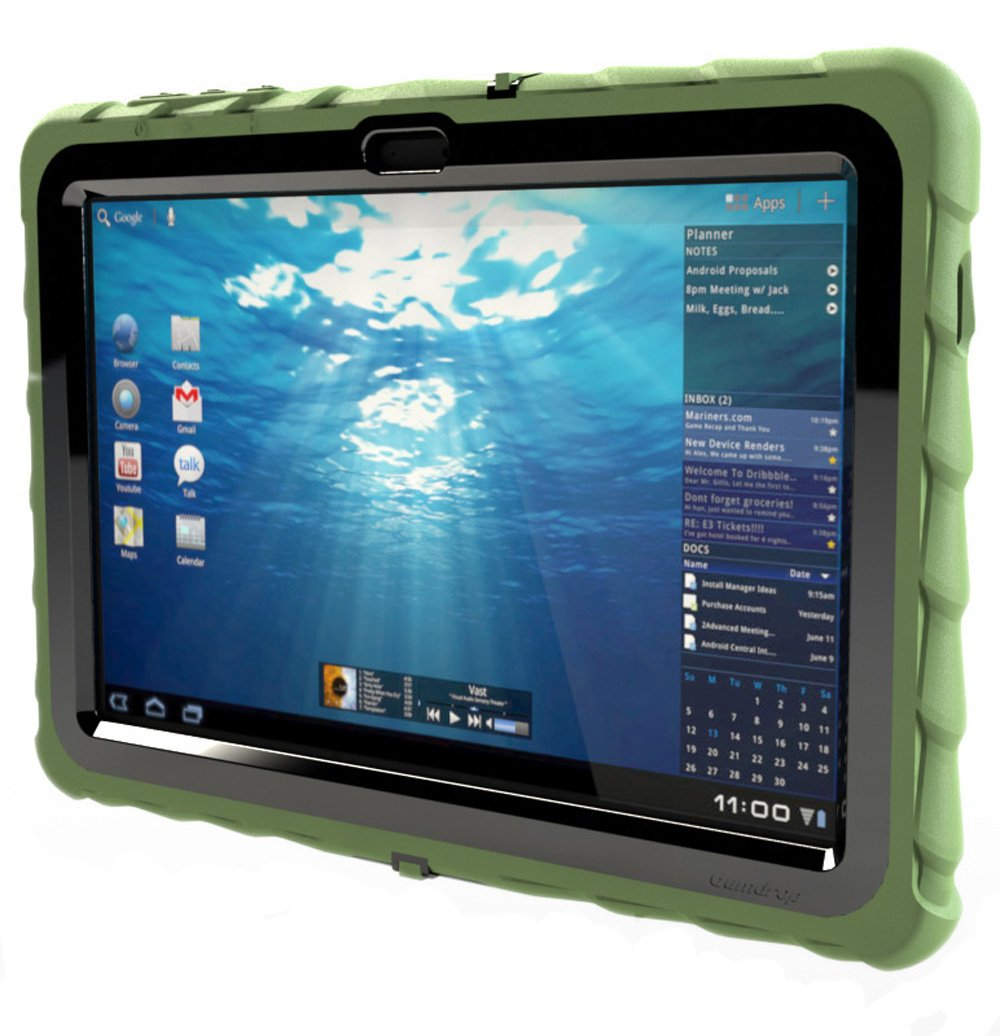 Gumdrop Cases Drop Tech Series Case for Samsung Galaxy Tab 10.1 WiFi Version Only - Army Green