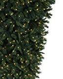 Treetopia Knocked Upside Down Artificial Christmas Tree, 7 Feet, Clear Lights