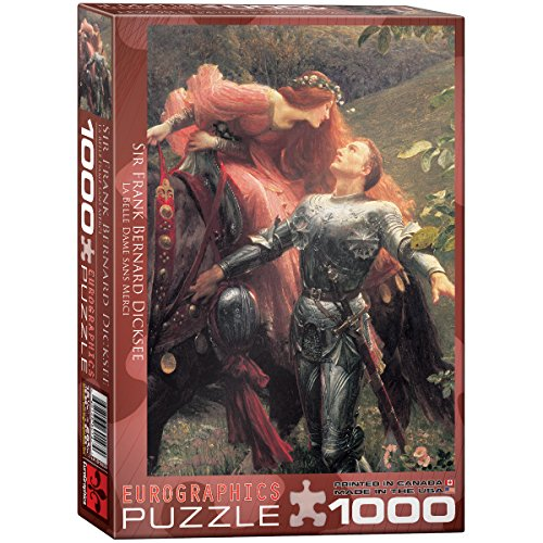 Eurographics La Belle Dame Sans Merci (Detail) by Sir Frank Dicksee 1000-Piece Puzzle