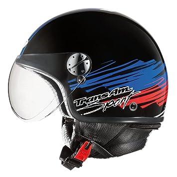AXO mS1P0013 casque jet subway fC taille xS (noir/bleu/rouge
