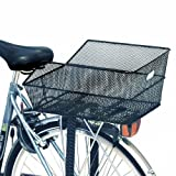 Basil Cento Rear Bag Basket Steel Mesh Fixed Mounting Black (Rear Rack Req)