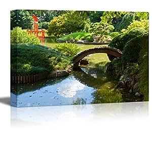 Canvas prints wall art japanese garden and for Garden pond amazon