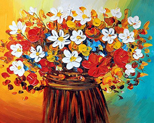 Xm Art-Give You A Sense Of Fresh Flowers Palette Knife Landscape Oil Painting On Canvas Wall Art Deco Home Decoration(Unstretch And No Frame)