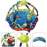 Babyfield - Tapis d éveil pour bébé - Tapis d activité motifs aquatiques avec arcs et jouets éducatifs