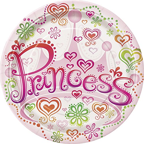 "Set of 8 Princess Diva 9"" Plates"