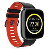Smart Watch GV68 Waterproof for Android & iOS for Android & iOS Built-In Mic and Speaker, Bluetooth, Sleep & Heart Rate Monitor, Pedometer, Remote Camera Men, Women (Red) (Color: Red)