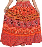 Exotic India - Falda - para mujer multicolor Fiesta