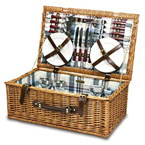 Picnic Time - 207-50-404 - bury Picnic Basket for 4 from Picnic Time