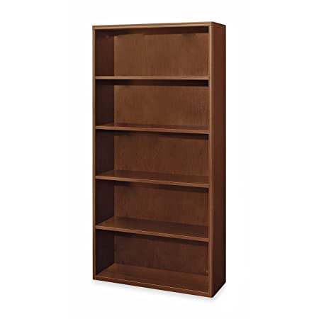 HON 800 Series Lateral File with 5 Drawers, 36 W by 19-1/4 D by 67 H, Cherry