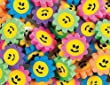 Pack of 24 - Mini Rubber Smiley Face Daisy Erasers