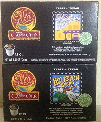 Cafe Ole Taste of Texas DECAF Bundled San Antonio/Houston K-cup 12 Cups (Pack... (Mexican Decaf Coffee K Cup compare prices)